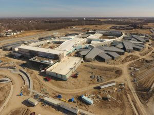 Aerial View of Fulton State Hospital construction - 02-07-18
