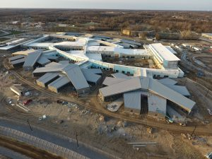 Aerial view of Fulton State Hospital construction - 04-06-18