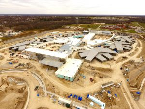 Aerial View of Fulton State Hospital construction - 11-27-17